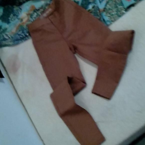 Super High Rise Dark khaki pants